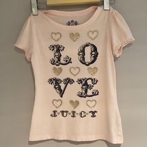 JUICY COUTURE Tee love pink Size 8